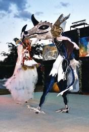 le songe de loeridis echassiers feeriques contes et merveilles spectacle fantastique parade animation elfes fees dragon loup echasses poes (20)