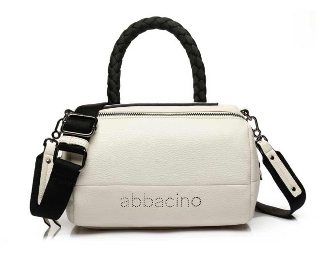 Abbacino Beige Bowling Bag with Braided Strap