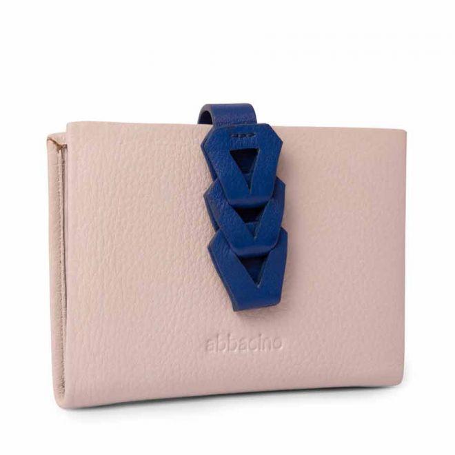 Abbacino beige leather card holder