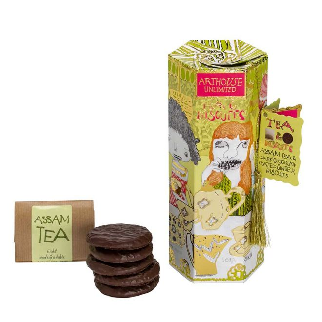 Arthouse Unlimited Assam tea & ginger biscuits