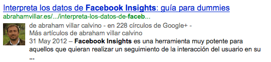 Facebook Insights Autorship Google