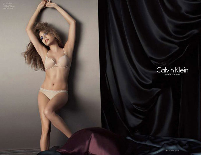 Eva Mendes Calvin Klein advertisement photos