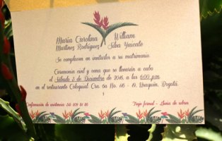 Tarjetas de Matrimonio Carolina y William