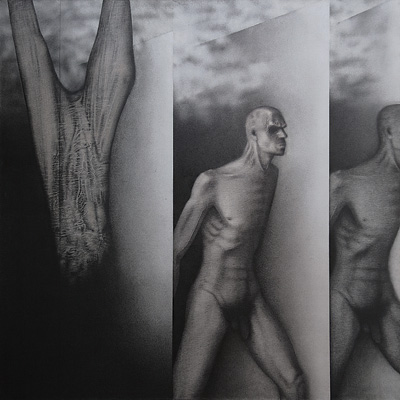 Art Exhibition - Runners by Rameshwar Broota (1982)