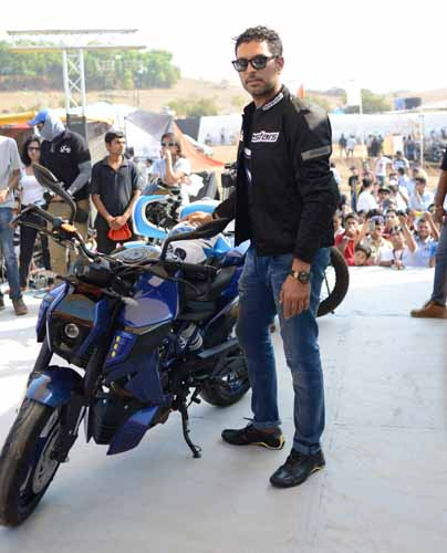 Yuvraj Singh launches his new custom bike designs at IBW