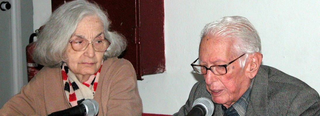 Fina y Cintio, durante un conversatorio en el periódico Juventud Rebelde.
