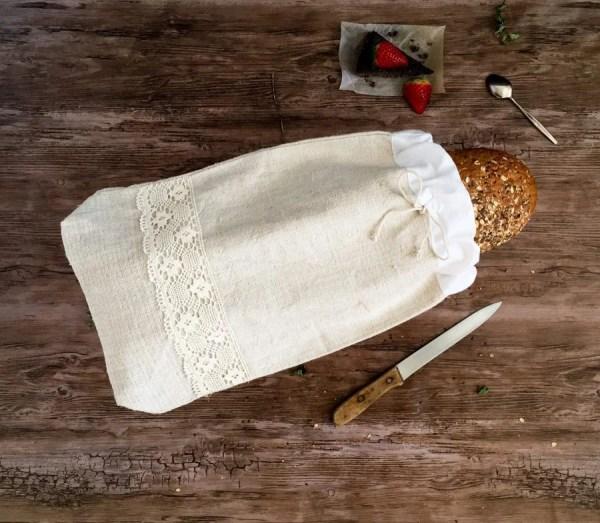 konopné vrecká na pečivo