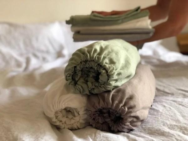 ľanové postelné plachty