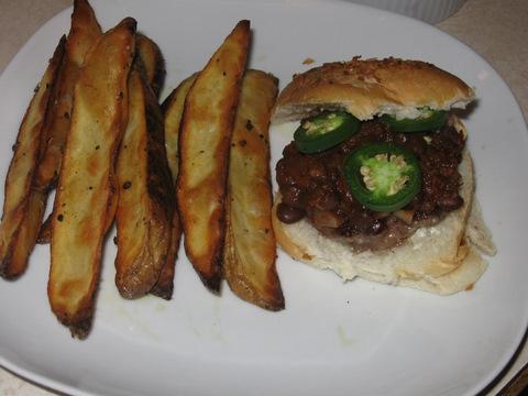 Burger with Black Bean Chili