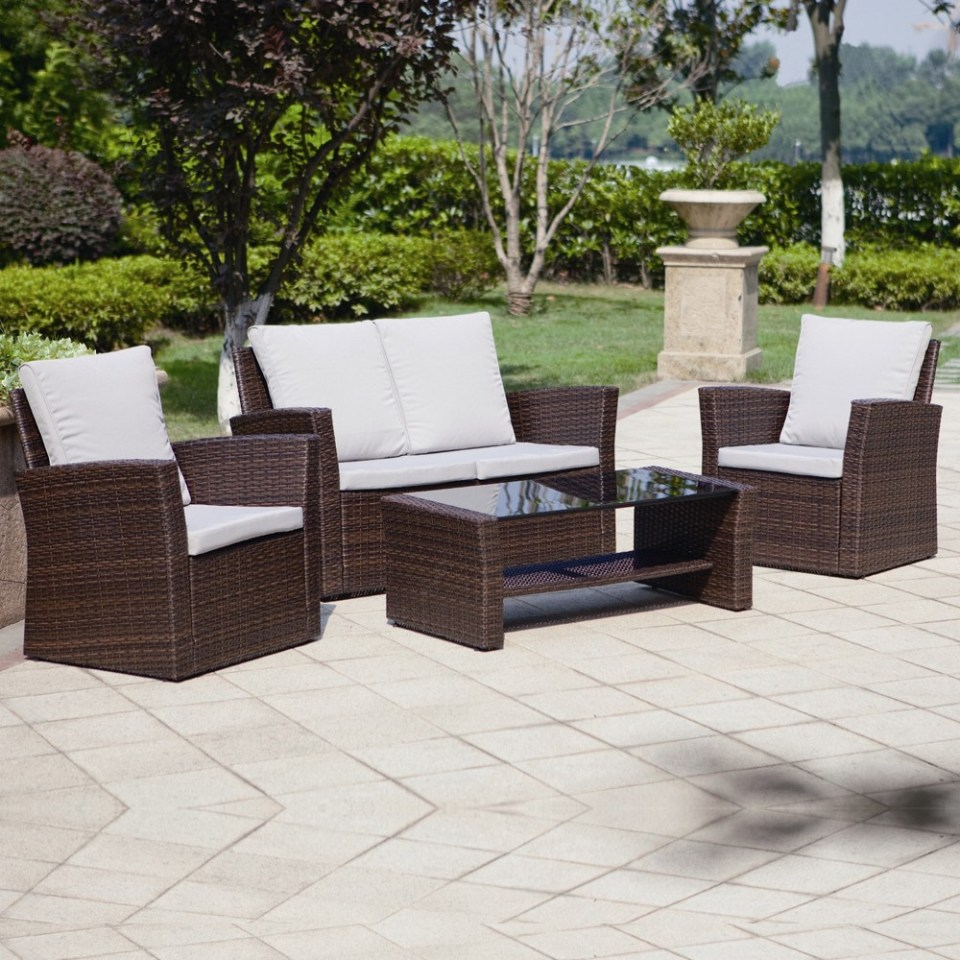 4 Piece Algarve Rattan Sofa Set For Patios Conservatories And. rattan furniture sofa set   Savae org