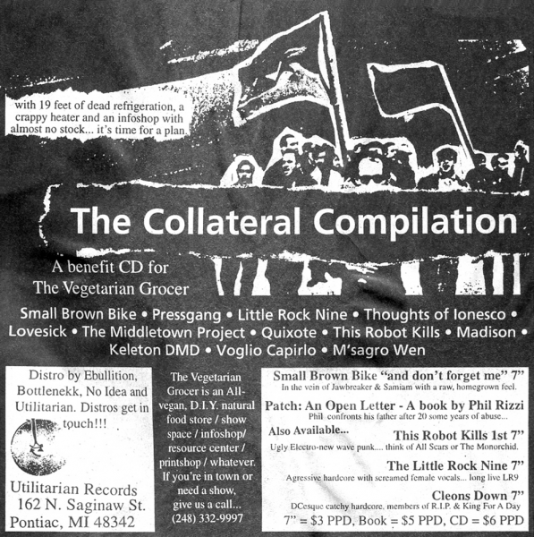 The Collateral Compilation ad in issue 22 of HeartattaCk zine, 1999. Courtesy of Dave Ensminger