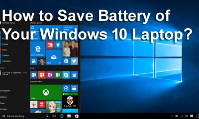 Save Battery of Your Windows 10 Laptop