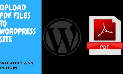 Upload PDF Files To Wordpress Site Without Installing Any Plugin