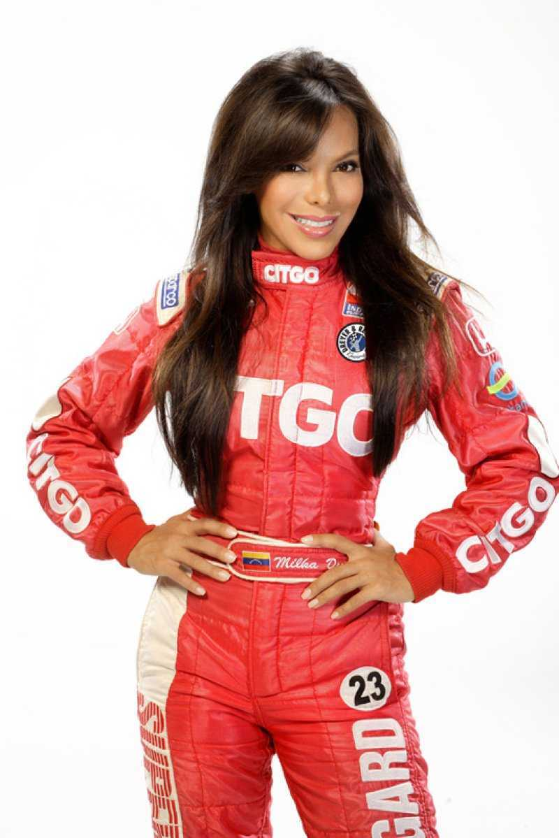 Milka  Duno  of  Venezuela.   Duno  is  a  driver  of  #23  Newman  Haas  Lanigan  Racing  team.  She   alongside   Danica  Patrick  and  Sarah  Fisher are  the  only   females  competing  on the  IRL circuit.    picture  appears  courtesy  of  forum/klipsch.comarchives/duno_milka   ........................