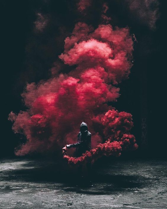 red bomb smoke