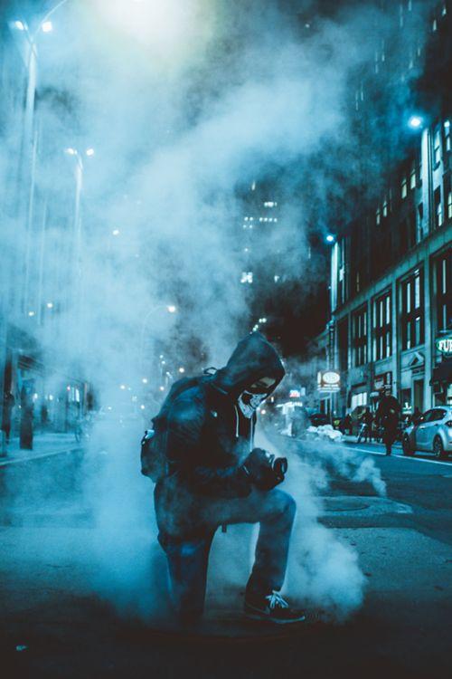 White dark Smoke Bomb Photography