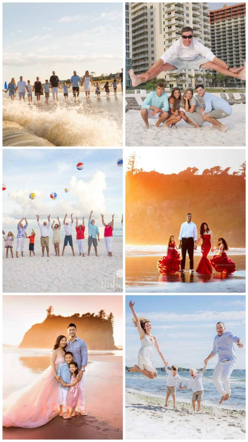 Family Portrait Beach Ideas