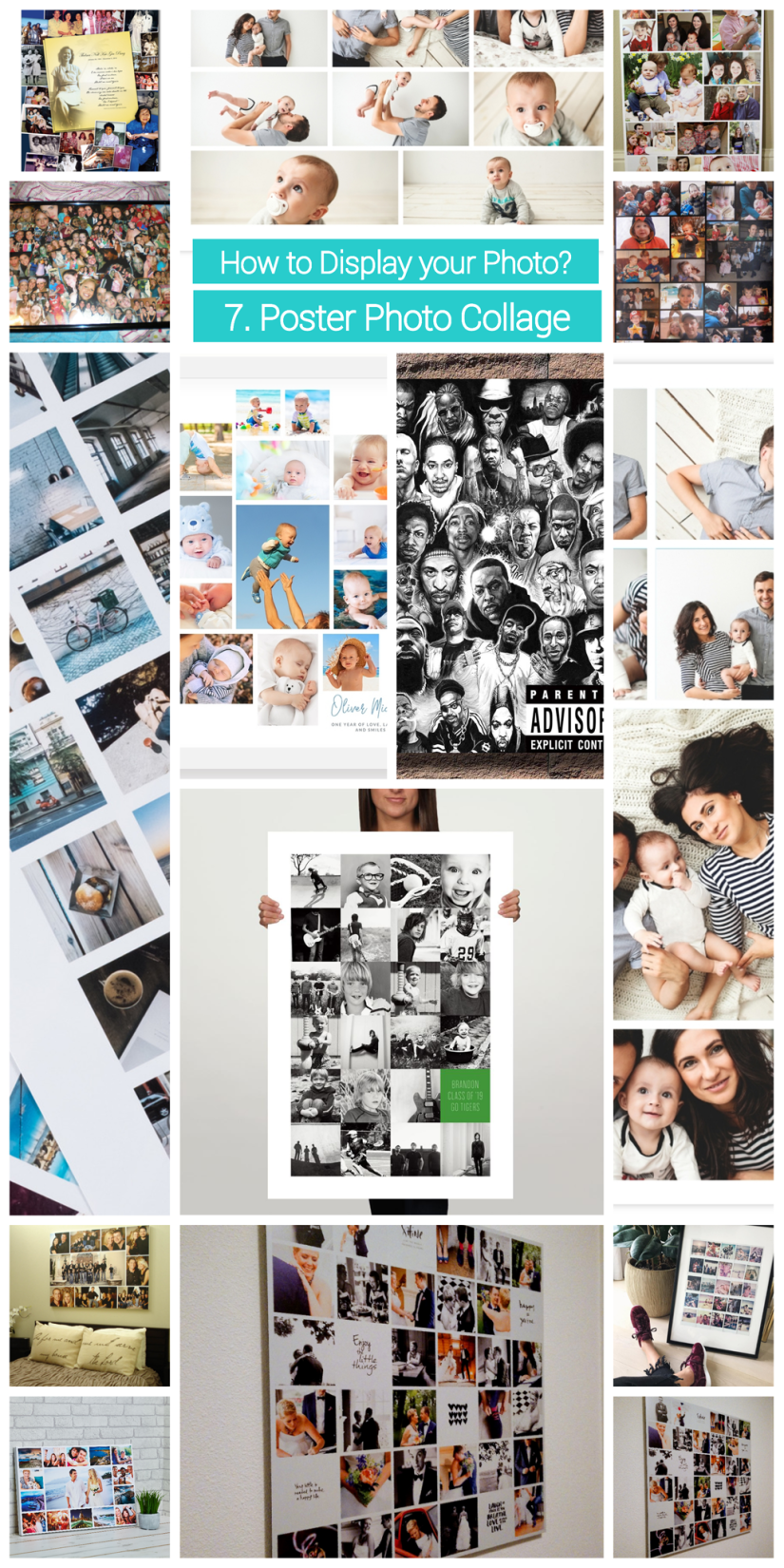 how to display  photo collage - poster collage