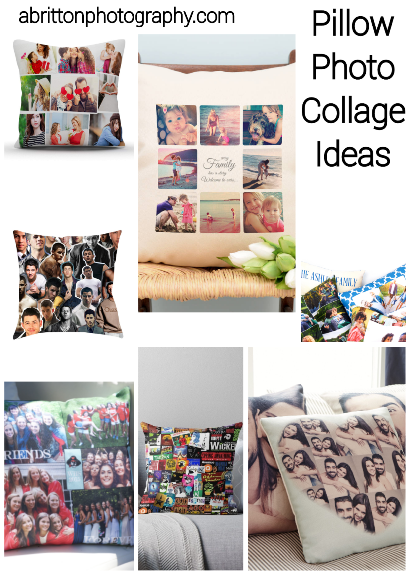pillow photo collage ideas