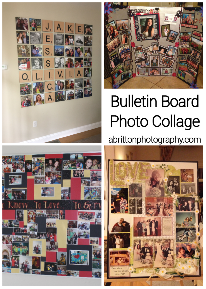 bulletin board photo collage ideas