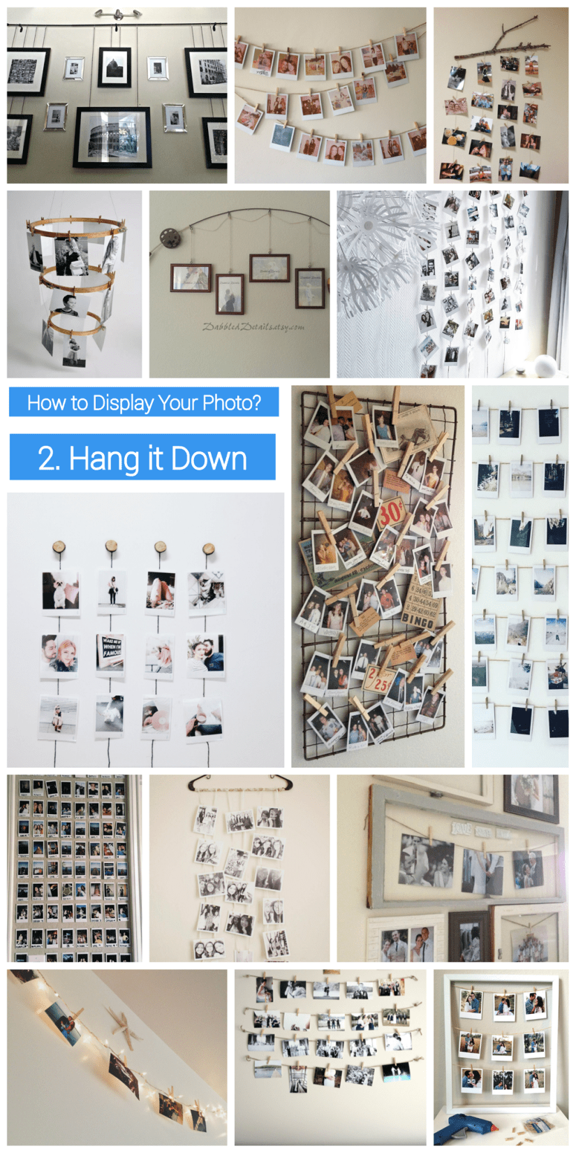 how to display  photo collage - hang the photo