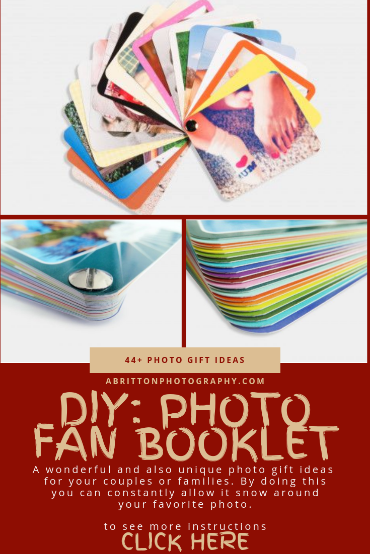 photo fan booklet gift ideas