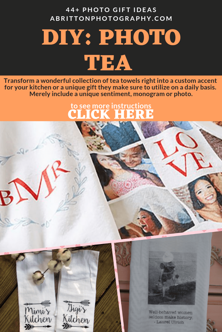 photo custom tea towel gift ideas