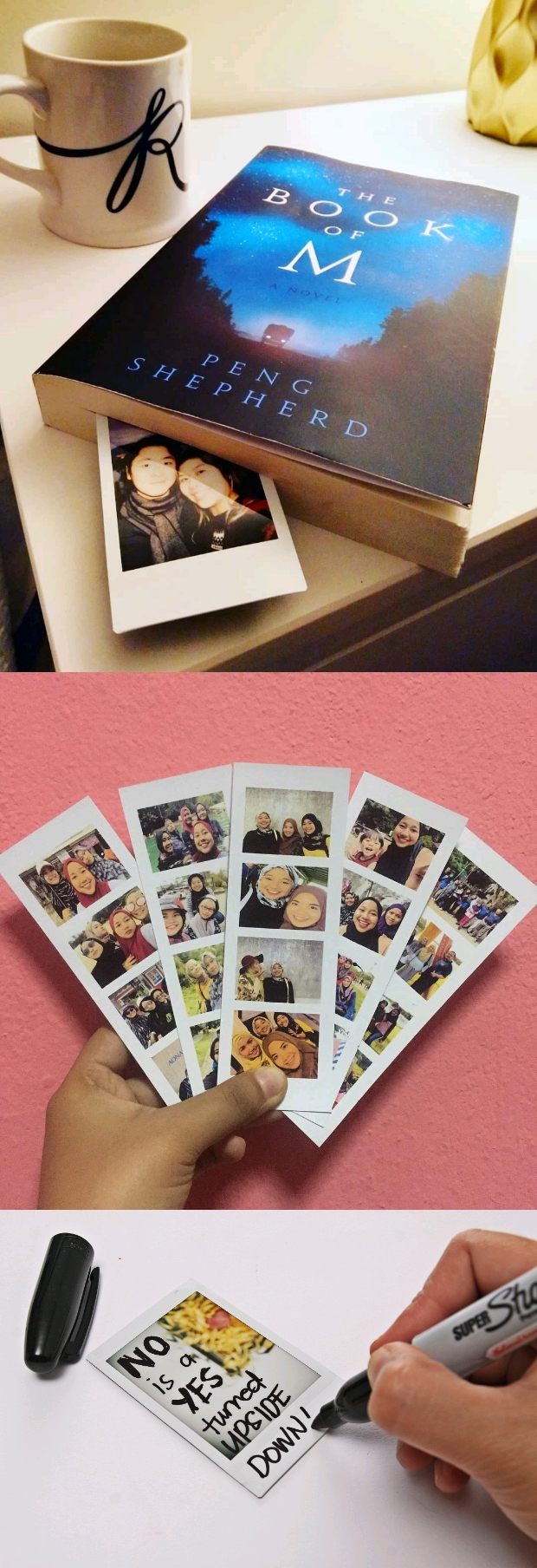 polaroid bookmark