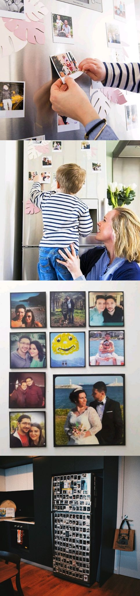 polaroid display magnet sticker