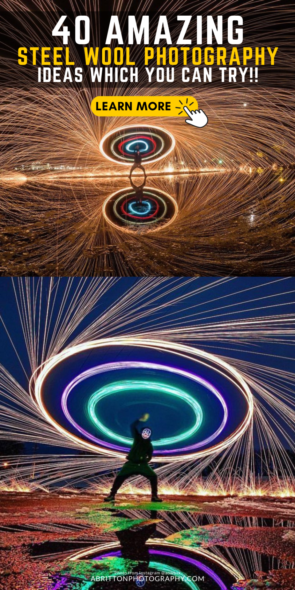 steel wool photography ideas
