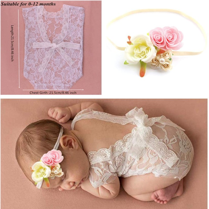 4 PCS Newborn Photography Props Outfits