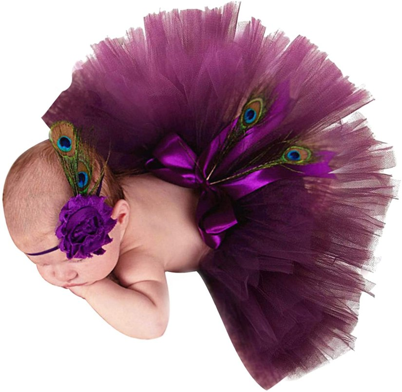 Newborn Girl Photography Props Peacock Outfits