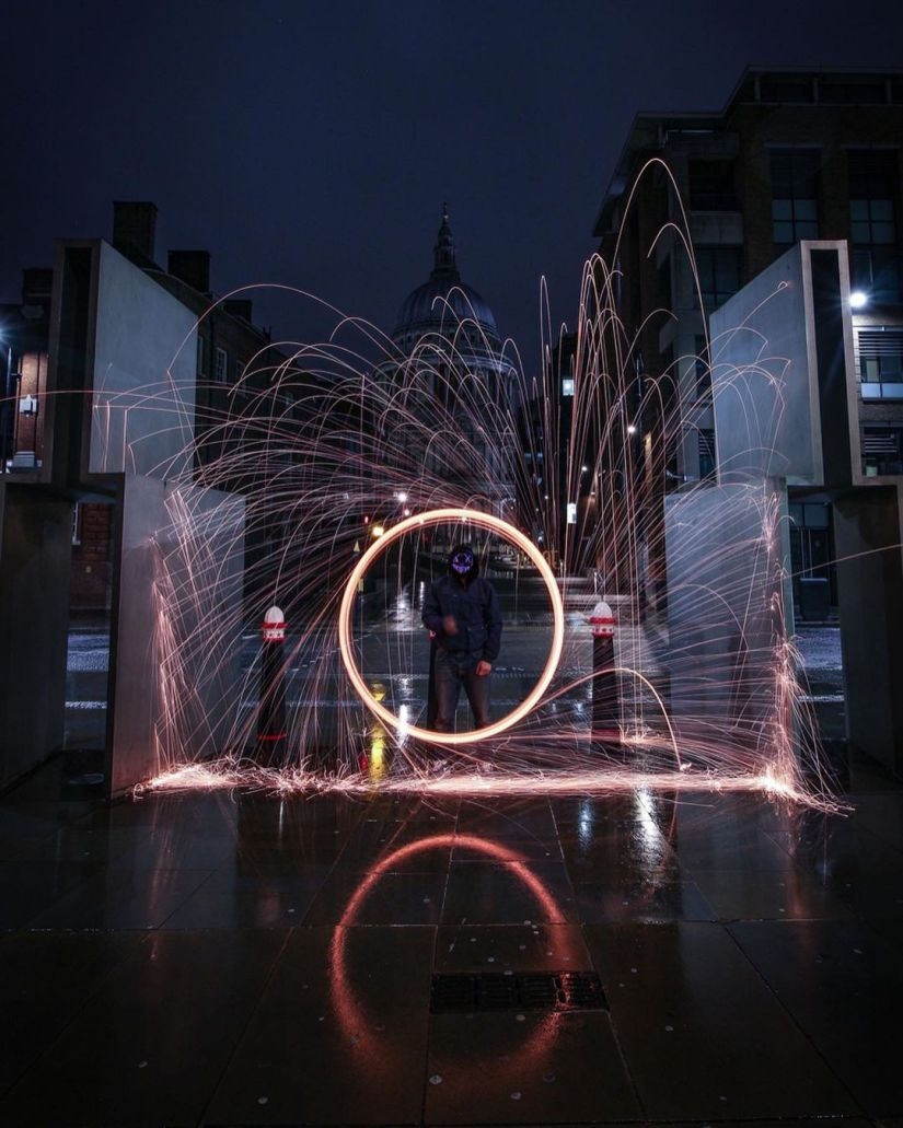 How to Make Vertical Steel Wool Photography Ideas