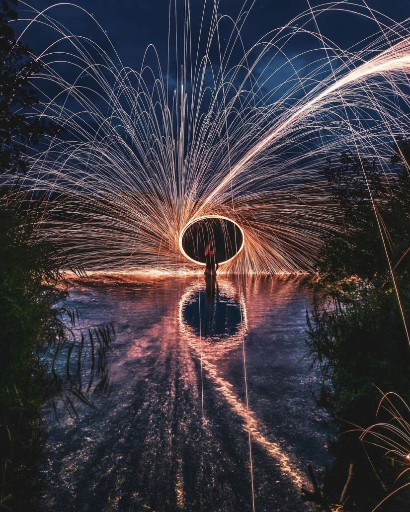 Reflections steel wool photography ideas