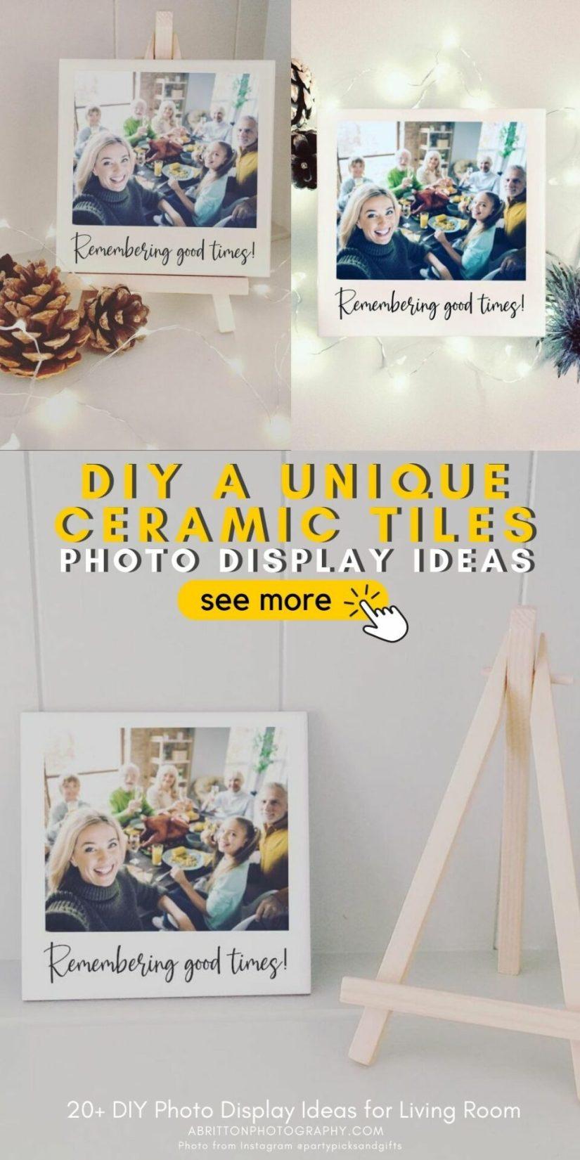 diy photo display ideas unique - ceramic tile ideas
