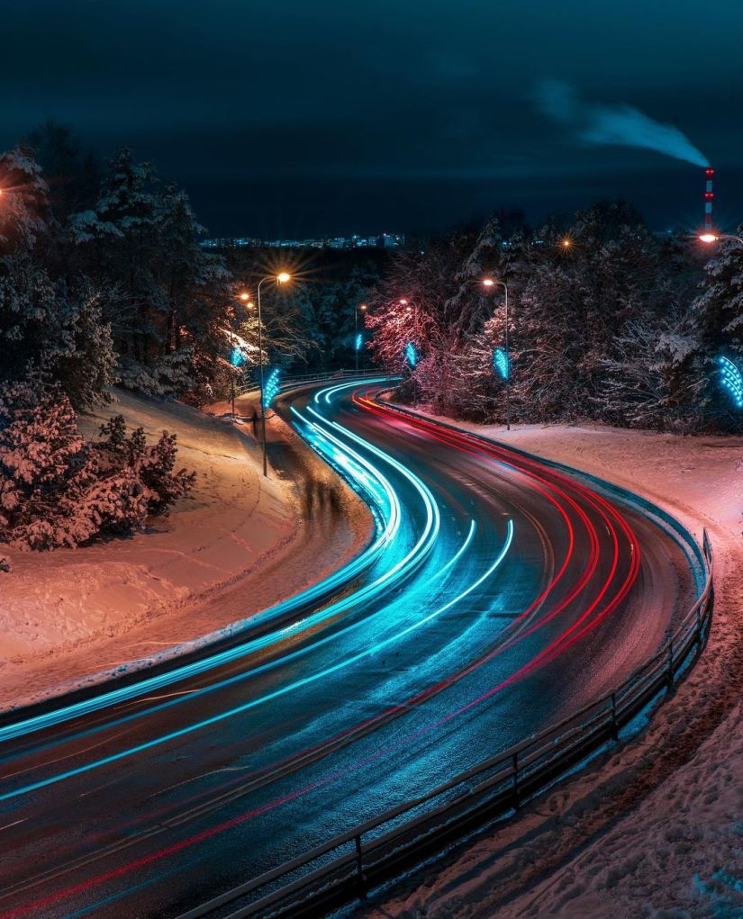 long exposure photography - Night Light Painting Ideas