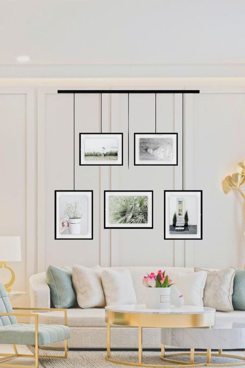 modern photo display ideas living rooms