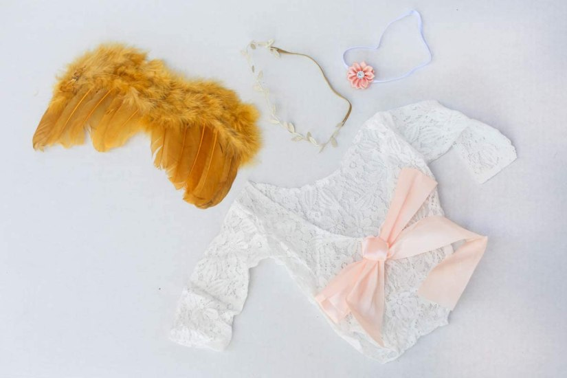 newborn photography props lace romber and angel wings