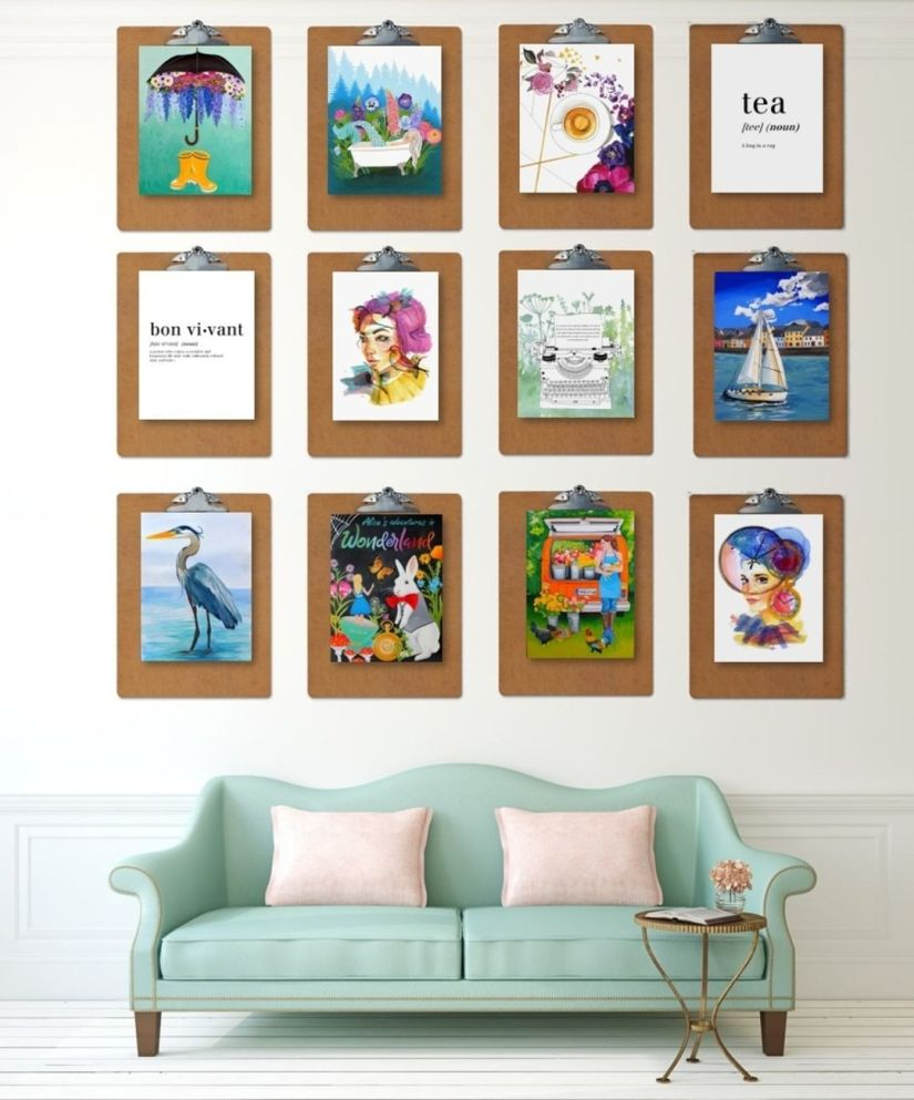 photo frames on the wall living room layout display ideas clipboard