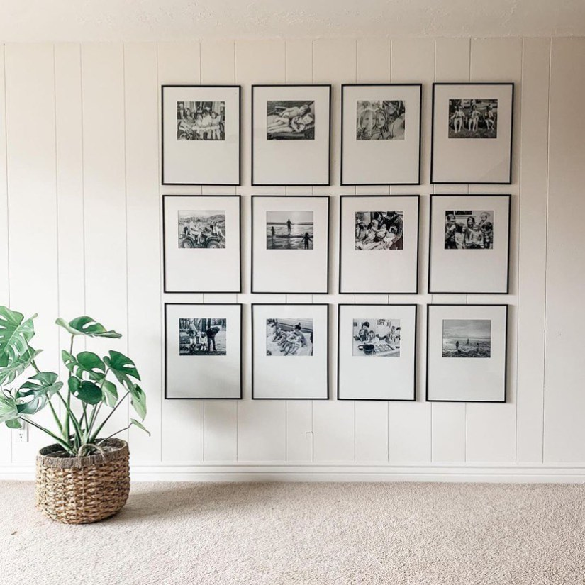 photo frames on the wall living room layout display ideas