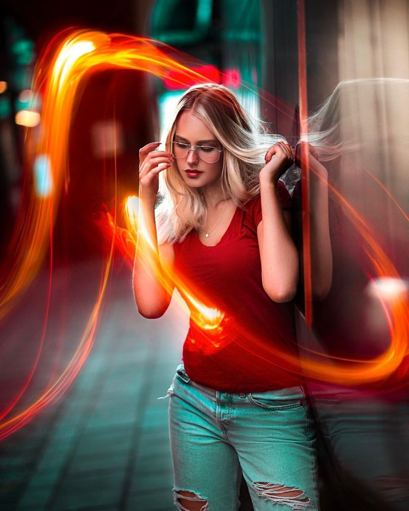How to Creative Light Painting Portrait Picture Ideas