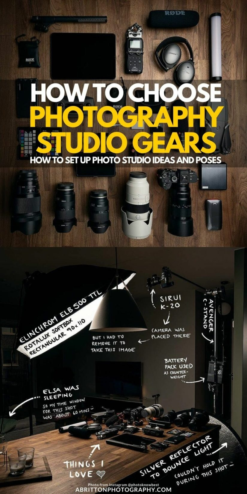 How to Choose DIY Home Studio Photoshoot Equipment Ideas