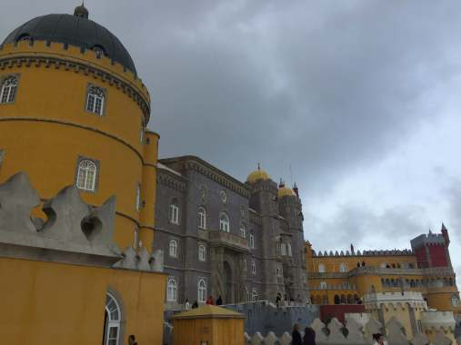 Front Pena National Palace Sintra Portugal