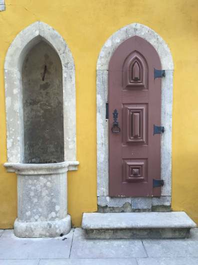 Smallest Door at Pena National Palace Sintra Portugal