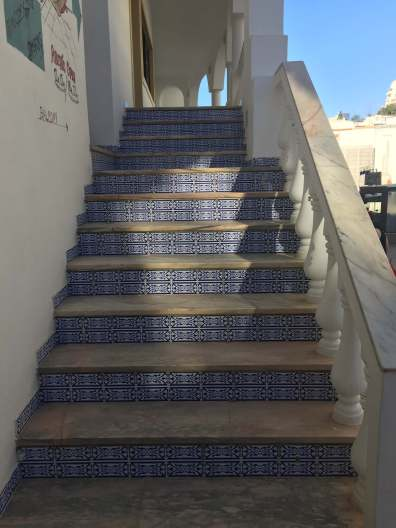 Tiled stairs Albufeira Portugal