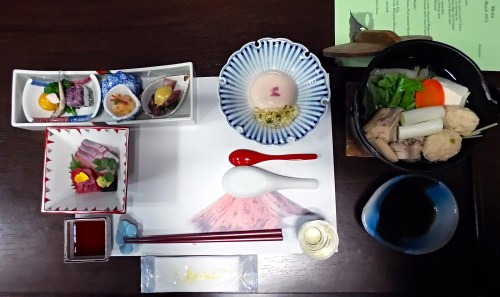 Our beautiful kaiseki dinner
