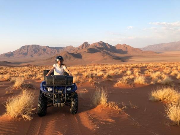 AndBeyond Sossusvlei Desert Lodge ATVing sand dunes