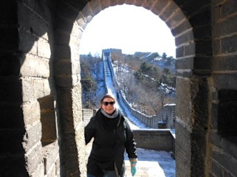Visiting the Great Wall of China in January.
