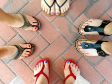 Pedicures complete a girly day.