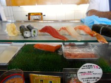 I ordered the basics that I could identify: tuna, cucumber roll, crab, tuna roll, etc.